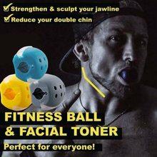 1pc maxila trainer face-lift artefato facial dispositivo de mastigação muscular rosto e pescoço exercício bola força trainer expansor equipamentos