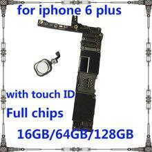 Материнская плата для iphone 6 plus, оригинальная разблокированная материнская плата для iphone 6 plus, 16 ГБ, 64 ГБ, 128 ГБ, с/без touch ID, материнская плата дл...