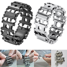 Многофункциональные браслеты из нержавеющей стали, набор инструментов для болтов, отвертка, ручная цепь, полевой браслет для выживания в кемпинге
