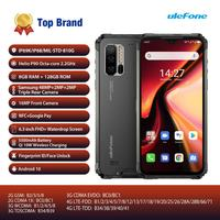 Global Version Ulefone Armor 7 Android 10 Smartphone Rugged Mobile Phone Helio P90 8GB+128GB 2.4G/5G WiFi IP68 48MP CAM 4G LTE