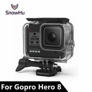 Image 1 - SnowHu עבור ללכת פרו גיבור 8 45m מתחת למים עמיד למים מקרה צלילה מגן כיסוי דיור הר עבור Gopro 8 שחור אבזר GP801