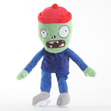 New Skating Zombie Plants vs Zombies Plush Toys Plants vs Zombie Stuffed Toys Doll 30CM Children Kids Toys zombie doll