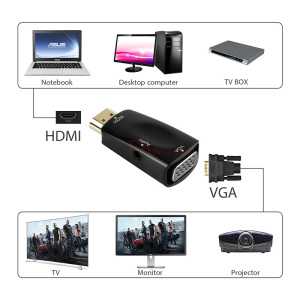 Image 3 - FANGTUOSI hd 1080P HDMI to VGA Adapter Audio Cable Converter Male to Female for PC Laptop TV Box Computer Display Projector