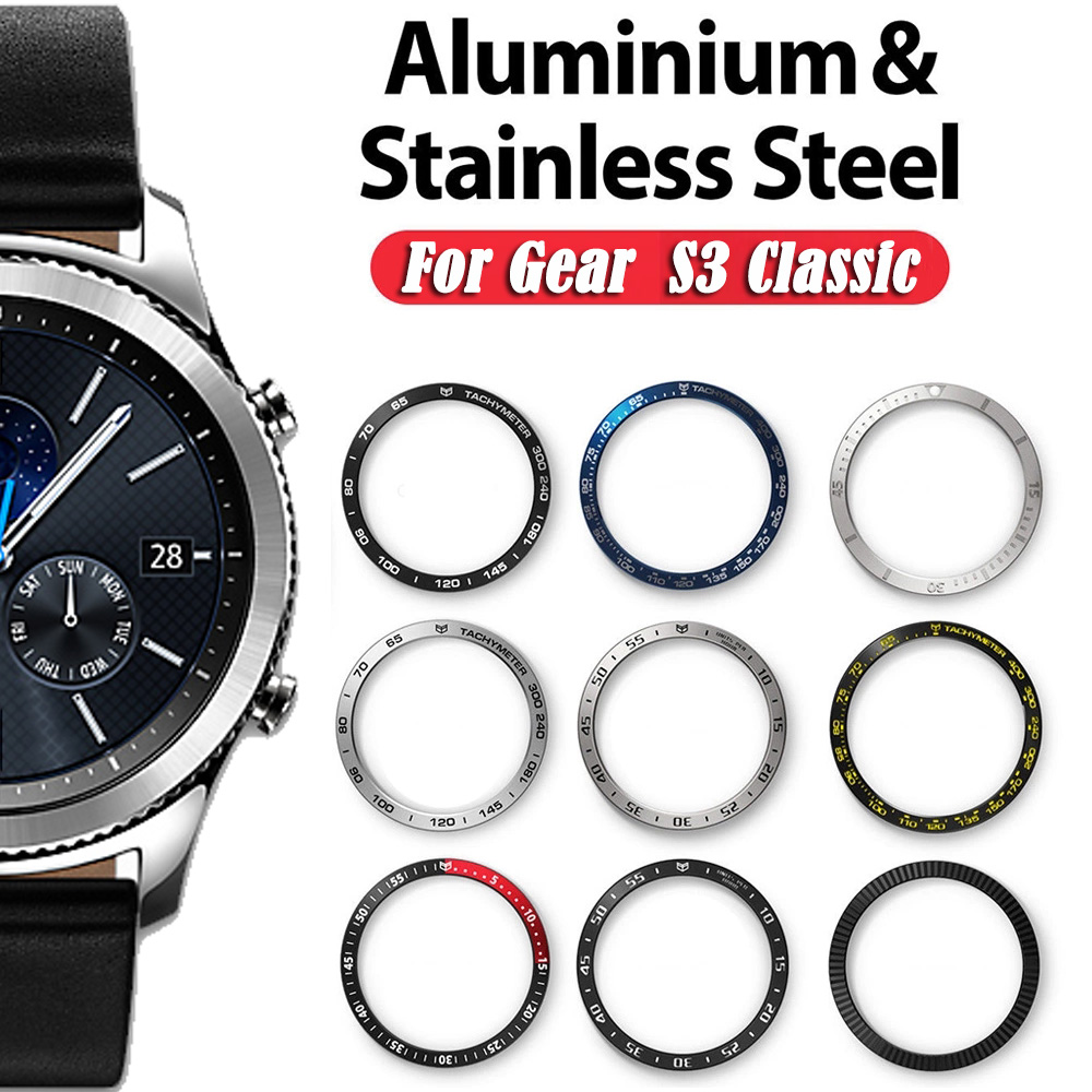 For Samsung Gear S3 Classic & Frontier Ring Bezel Styling Frame Case Cover Protection For Samsung Galaxy Watch 46mm Bezel Ring