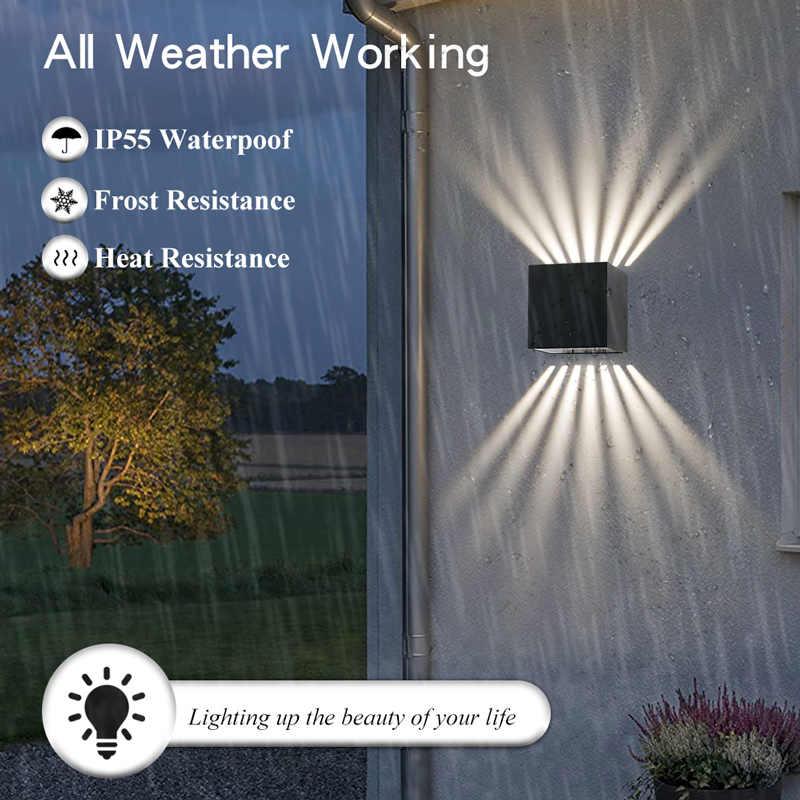 Led في الهواء الطلق الجدار مصباح الشرفة ضوء الإضاءة المنزلية للديكور خارج حديقة الجدار أو بوابة المنزل 7 شعاع الألومنيوم مقاوم للماء IP55