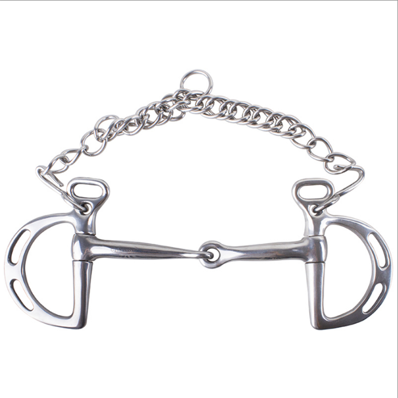 Stainless Steel Horse Snaffle Bit Full Cheek Bit Horse Product Mouth Equestrian Equipment Supplies
