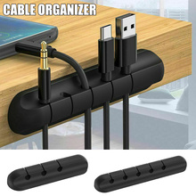 Winder Organizer Tidy-Management Desktop-Cables Clips PUO88 Silicone