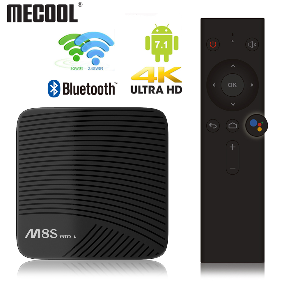 MECOOL M8S PRO 4K Smart <font><b>Android</b></font> 7,1 Amlogic S912 3GB DDR3 16/32GB 2,4G/5,8G WiFi <font><b>Android</b></font> <font><b>Tv</b></font> Box Bluetooth H.265 Media Player image