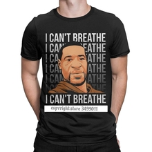 I Can't Breathe Men's Tshirt George Floyd Black Lives Matter Hipster Tees Tee Shirt Graphic Printed Clothes