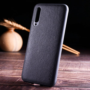 Image 2 - case for xiaomi mi a3 a1 a2 lite funda luxury Vintage Leather skin hard soft cover for xiaomi mi a3 a1 a2 lite case coque capa