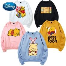 Disney elegante Winnie the Pooh Bear stampa Cartoon Harajuku donna felpa o collo Pullover moda manica lunga Streetwear top