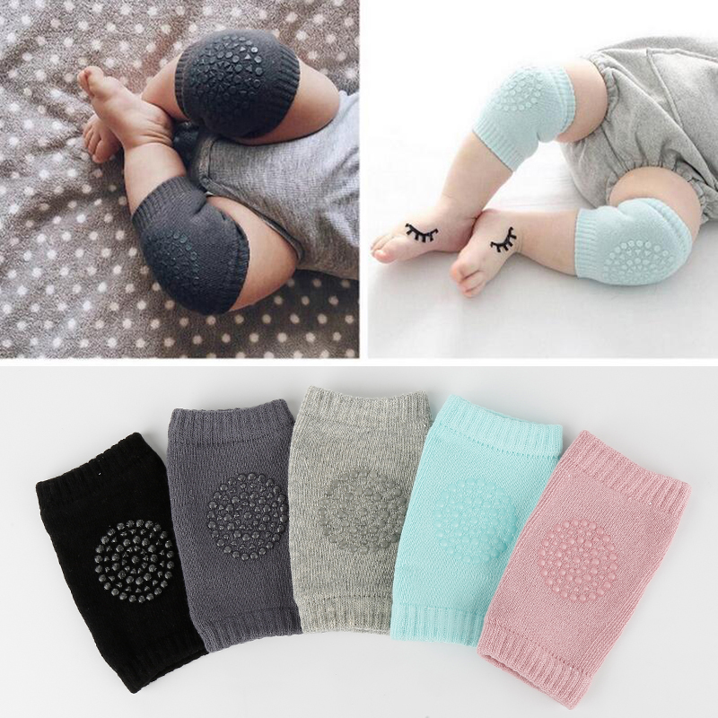 2PCS Baby Knee Pad Kids Safety Crawling Albow Cushion Protect Baby Knee Cap Cotton Non-Slip Warm Thickening Socks Sheathed
