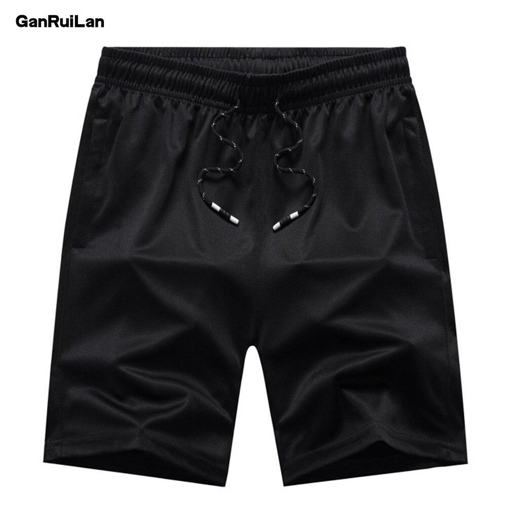 New Men Gyms Fitness Loose Shorts Bodybuilding Joggers Summer Quick-dry Cool Short Pants Male Casual Beach Men Short DK19025