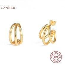 CANNER-boucles d'oreilles pour femmes, bijoux en argent Sterling 100% 925