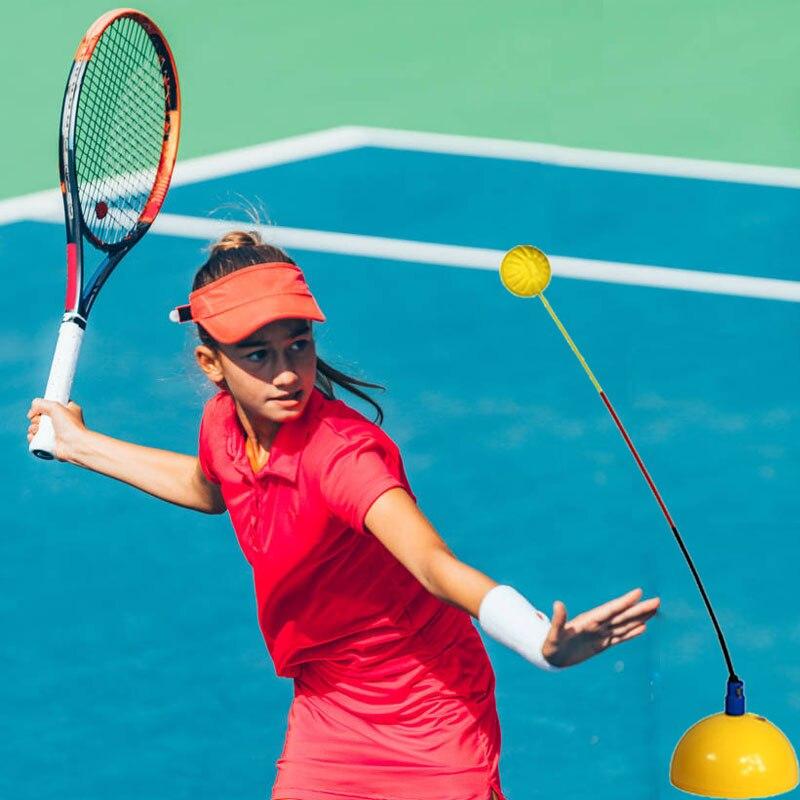 per allenarsi da solo all/'aperto con corda elastica resistente strumento portatile per allenare il tennis basetta a rimbalzo per principianti Hanhan