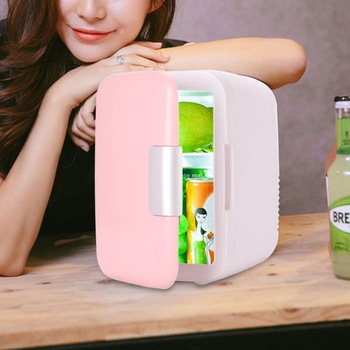 4L Mini Fridge Portable Car Refrigerator Electric Cooler&Warmer Dual Use Cooling Heating Box Home Office Portable Compact Fridge mini refrigerator car fridge usb portable mini fridge beverage tanks cooler refrigerator movable fridge car electrical cooler