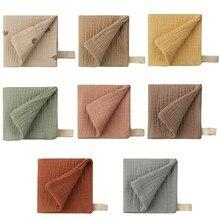Pañuelo para Bebé de 4 capas de 8 estilos, tela suave absorbente de gasa para eructar, paño para niños, Baberos de toalla facial para recién nacido, Toalla de baño de alimentación