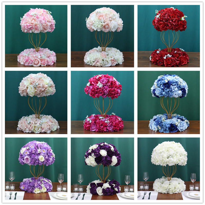 Image 5 - Customized artificial Gypsophila rose hydrangea flower ball home festival decoration wedding dining table road lead wreath 1pcArtificial & Dried Flowers   -