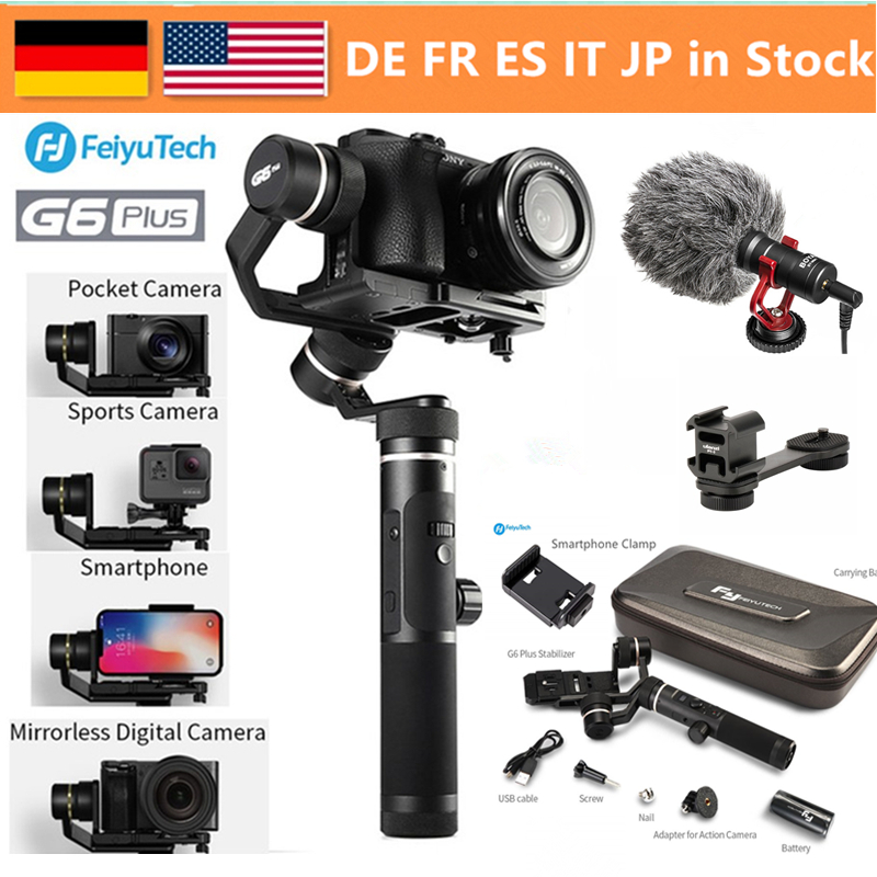 FeiyuTech G6 Plus stabilisateur de cardan de poche 3 axes pour caméra sans miroir caméra de poche GoPro Smartphone charge utile 800g Feiyu G6P