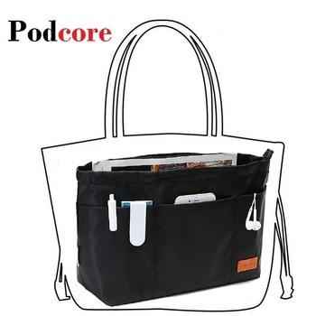 цена на Makeup Bag Organizer Insert Women Organizer Bag Cosmetic bags Travel Organizer Pockets Handbag Maleta de Maquiagem