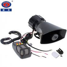 DC 12V 100W Motorcycle Car Auto Vehicle Truck 5 Sounds Tone Loud Horn Siren Police Firemen Ambulance Warning Alarm Loudspeaker цена