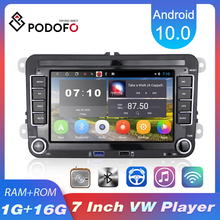 Podofo 2 din Android 10.0 Car Radios GPS Multimedia Player For VW/Volkswagen/Golf/Passat/b7/b6/Skoda/Seat/Octavia/Polo/Tiguan
