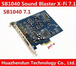 100% хорошая работа Creative SB1040 Sound Blaster X-Fi Xtreme Audio PCI-E звуковая карта режим вывода звука: 7,1