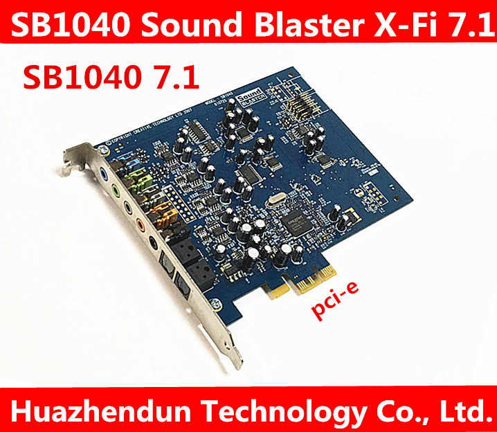 100% Working Good  Creative SB1040 Sound Blaster X-Fi Xtreme Audio PCI-E Sound Card Sound Output Mode: 7.1