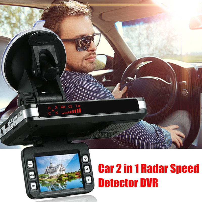 Newly 2 in 1 Car Driving Recorder Radar Detector Speed Alert DVR for Safe Driving SD669