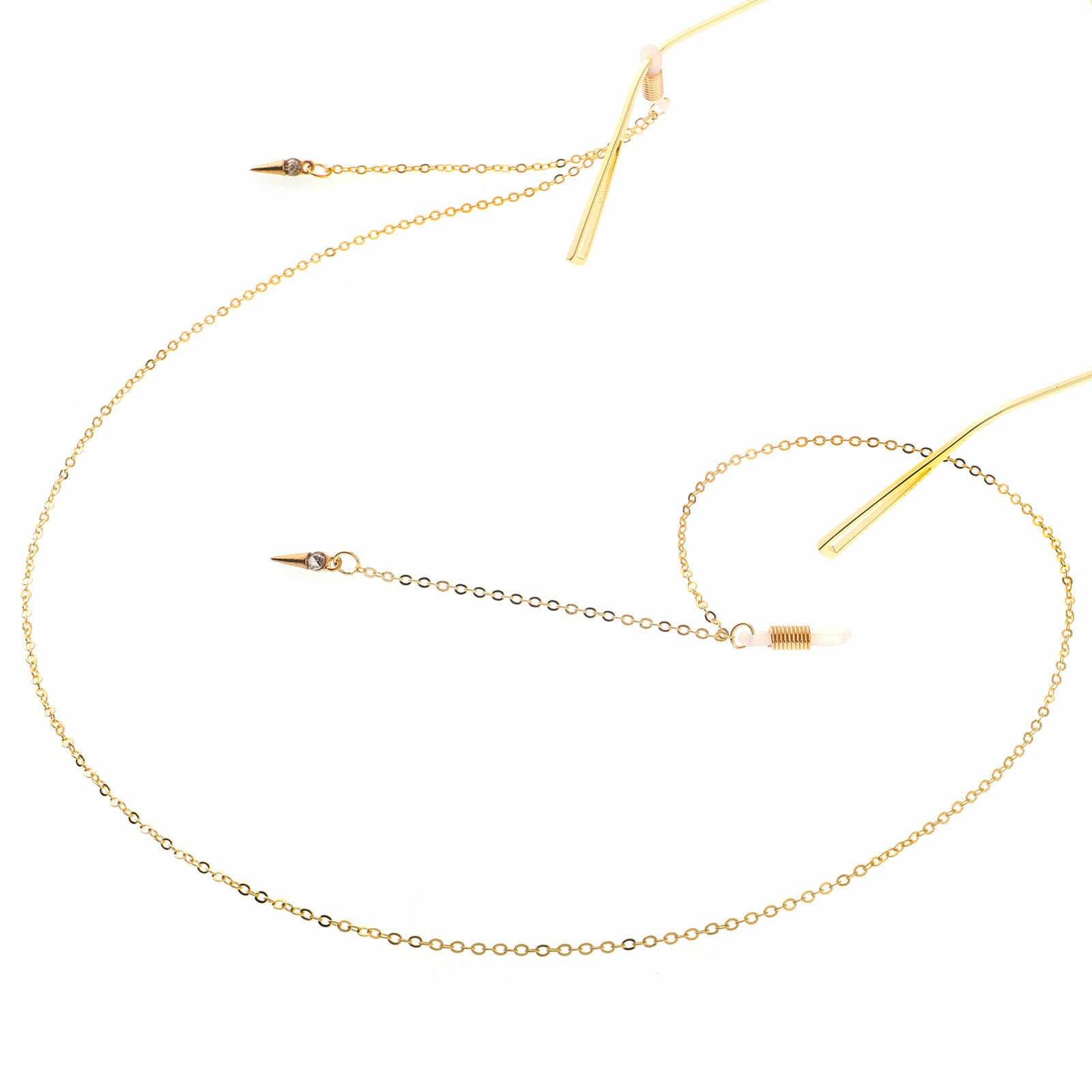 אנטי להחליק אביזרי מתכת משקפיים כבל זהב מסמרת תליון משקפיים שרשרת אופנה אביזרי יצרנים צלב גבול