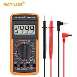 MY9205A Digital Multimeter AC DC Professional Voltmeter Ammeter Transistor Tester Upgrade Manual Range True RMS High Precision