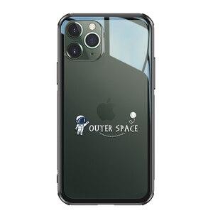 Image 2 - 強化ガラス電話ケース iphone 11 プロマックス 6.5 6.1 保護 transparant ケース iphone 11 pro のガラスシェルカバー