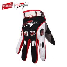 PRO BIKER Motocross Off Road Full Finger Gloves Racing Riding Motorcycle Gloves Breathable Bicycle Bike MTB
