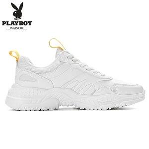 Image 2 - PLAYBOY ผู้ชายรองเท้าลำลองรองเท้ากลางแจ้งผู้ชายรองเท้าสบายรองเท้าผ้าใบแฟชั่นผู้ชายเดินรองเท้า Zapatillas PL615122