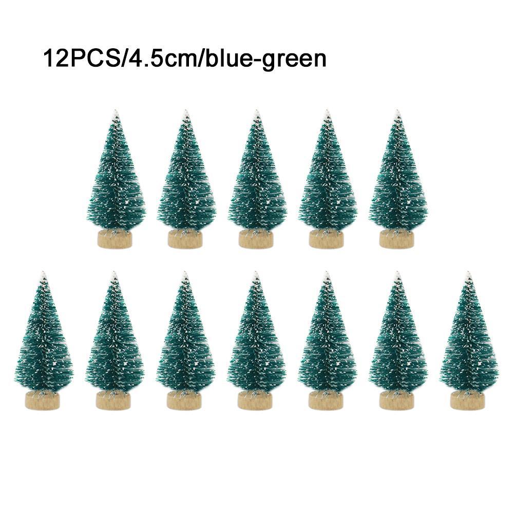 12 шт. Маленькая Рождественская елка «сделай сам», искусственная сосна, мини-щетка для бутылок из сизаля, Рождественская елка, Санта, снег, мо...