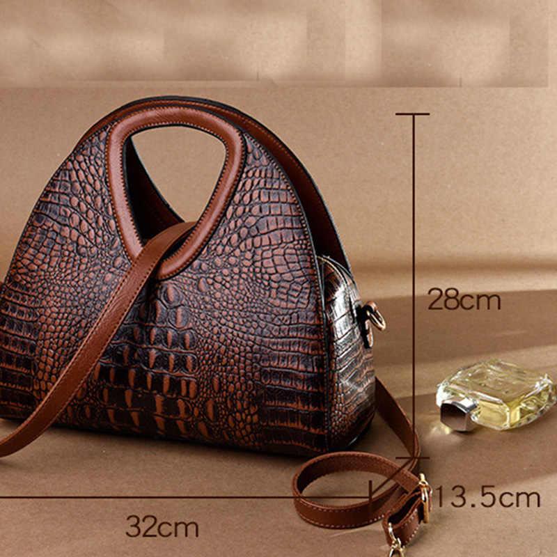 2019 новые модные женские сумочки из pu-кожи, женские сумки, дизайнерские женские сумки с крокодиловым узором, большие вместительные Сумки на одно плечо