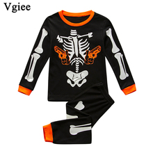 Vgiee Halloween Outfit Children Boys Girls Clothes Fall Winter Full Unisex Crtoon Pattern Baby Kids Girl Set CC638