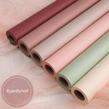 58cmx8yards Roll Korean Style Solid Color Flower Wrapping Paper Gift Kraft Paper Bouquet Packaging Supplies