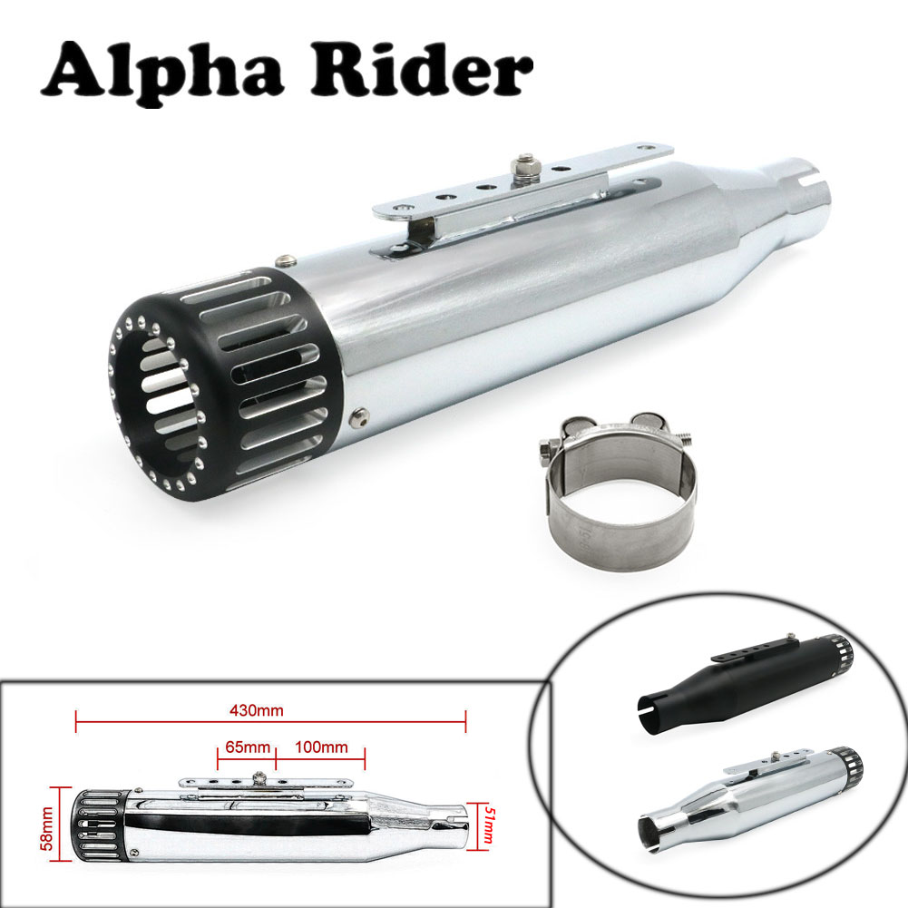 Motorcycle 51mm Slip-On Exhaust No Muffler Pipe High Quality Stainless Steel Fit For Harley Sportster 2014 2015 14 15