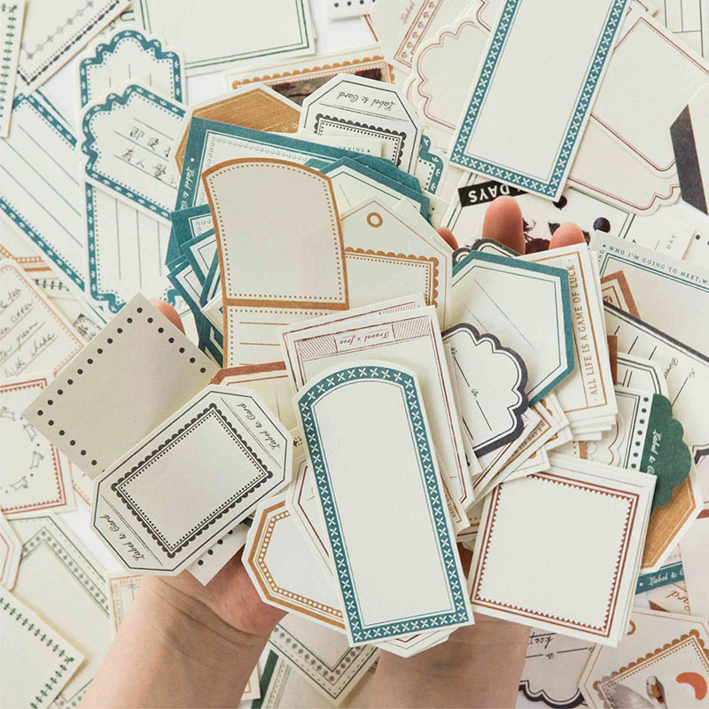 35 Pcs/bag Vintage Basic Frame Mini Paper Sticker Decoration Stickers DIY Diary Scrapbooking Planner Label Sticker