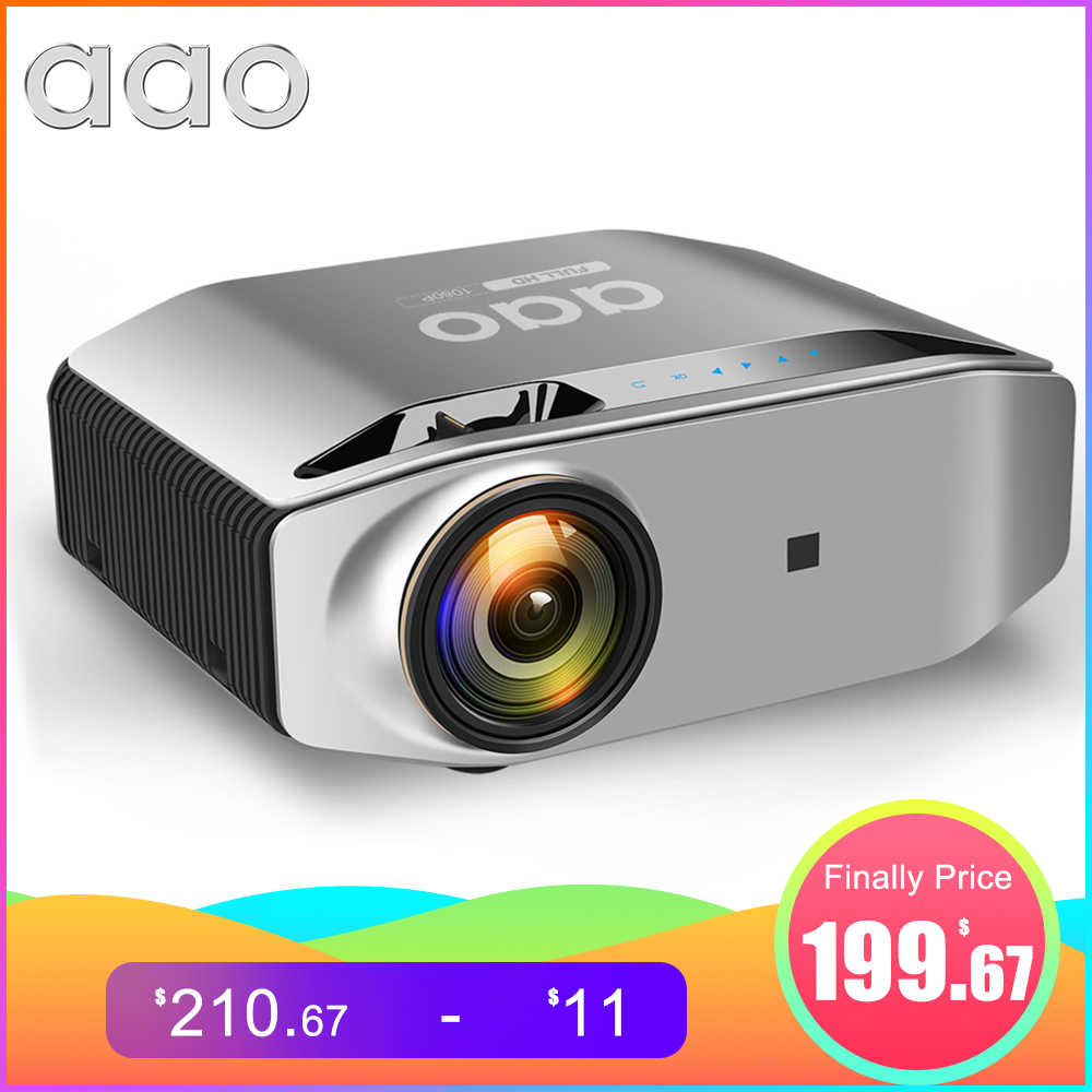 AAO Nativa 1080p Full HD Proiettore YG620 LED Proiettore 1920x1080P 3D Video YG621 Senza Fili WiFi Multi-Schermo Beamer Home Theater