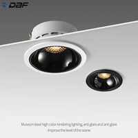 DBF Anti-Glare Ceiling Spot Light 7W 12W 18W 20W New Honeycomb Nest Reflector Home Bedroom Corridor Dimmable Embedded Downlight