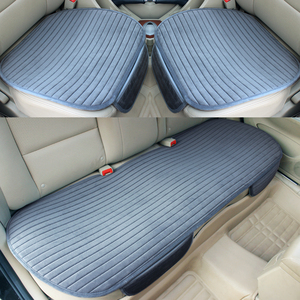 Image 2 - Car Seat Cover Front Rear Flocking Cloth Cushion Non Slide Auto Accessories Universa Seat Protector Mat Pad Keep Warm in Winter