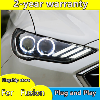 car accessories for Ford Mondeo LED 2016-2018 Headlight for New Fusion Head Lamp Dynamic turn signal LED DRL Bi-Xenon HID