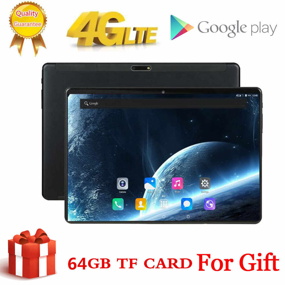 10 inç Tablet Pc Octa çekirdek 3GB + 64GB ( 32GB + 64GB kart) 4G LteTab telefon GPS Bluetooth Android Tablet 2.4G + 5G WIFI 1920x1200