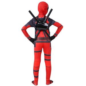 Image 5 - Kids cosplay Costume Boys cosplay Superhero Deadpool Costumes mask suit Jumpsuit Bodysuit Halloween party Costume For boy girls