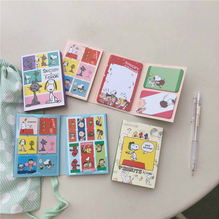 Купить с кэшбэком Cartoon Characters puppy Sticky Note Student Diary Planner Message Paper Kawaii Notebooks Writing Pads Indexes School Stationery