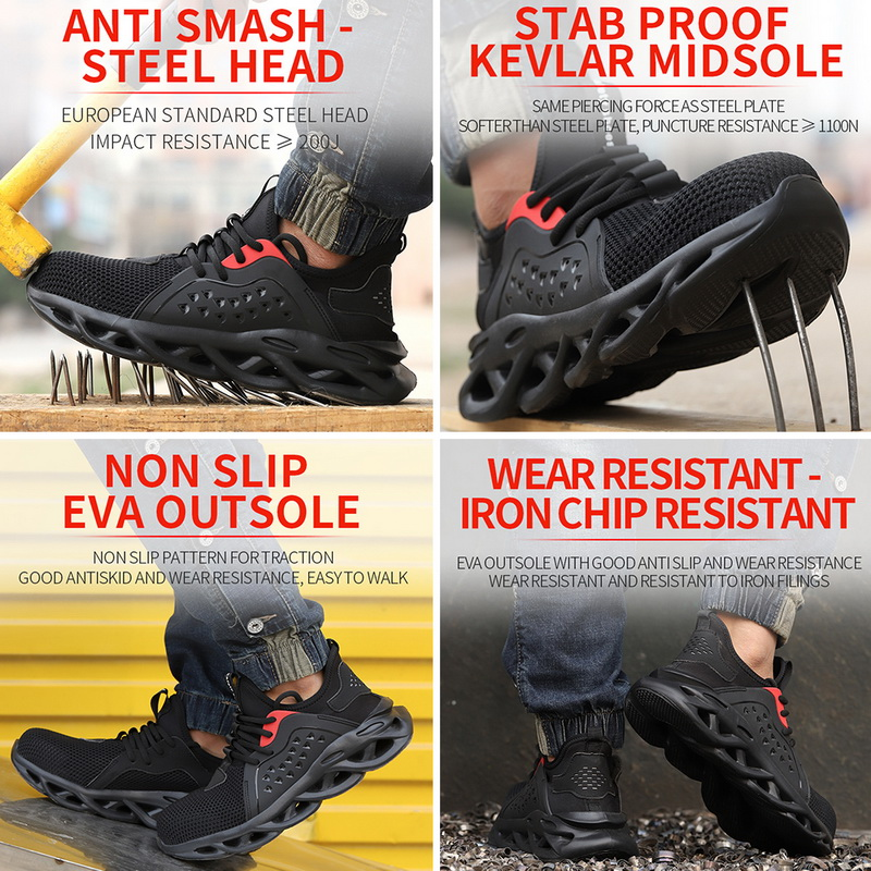 Steel Toe Indestructible Shoes   Comfortable Safety Shoes