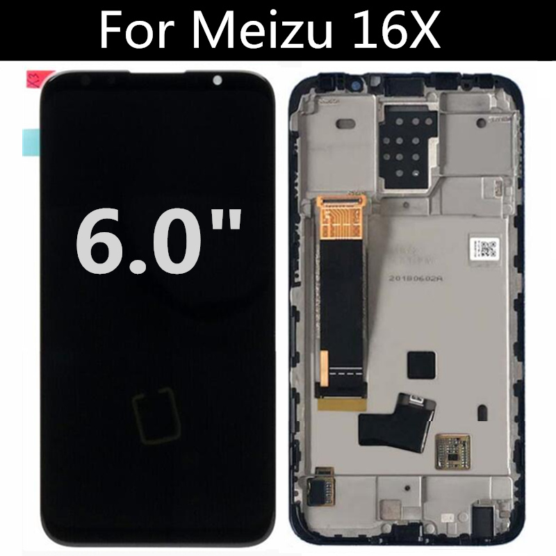 AMOLED LCD FOR <font><b>Meizu</b></font> <font><b>16X</b></font> M872Q LCD <font><b>Display</b></font>+Touch Screen Replacement Accessories FOR <font><b>Meizu</b></font> 16 X LCD image