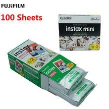 10-100 folha fujifilm instax mini filme 8 9 11 mini branco papel fotográfico instantâneo para câmera instax mini 7s 50s 90 papel fotográfico